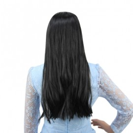 Long Straight Mixed Colors Black White Wigs Halloween Witch Cosplay Party