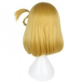 35CM Sunshine Aqours Ohara Mari Flax Yellow Wigs