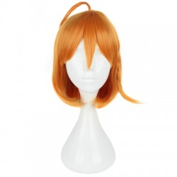 35CM Orange Wigs Heat Resistant Synthetic Fiber Hair Anime Cosplay Party for Sunshine Aqours Takami