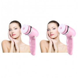 4 in 1 Electric Face Cleaning Brush Pore Cleaner Facial Exfoliator Skin Spa Beauty Care Massager
