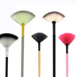 1Pc Fan Powder Concealer Mixed Finishing Highlighter Makeup Art Brush Beauty