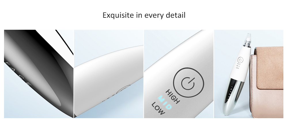inFace MS7000 Blackhead Instrument Deep Cleaning USB Charging with 2 Mode 3 Gear from Xiaomi youpin - White