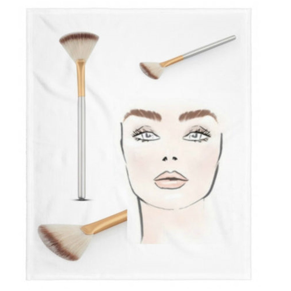 1Pc Fan Powder Concealer Mixed Finishing Highlighter Makeup Art Brush Beauty